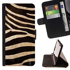 - DESIGN ZEBRA TEXTILE WALLPAPER PATTERN - - Prima caja de la PU billetera de cuero con ranuras para tarjetas, efectivo desmontable correa para l Funny HouseFOR Samsung Galaxy S4 IV I9500