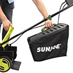Sun Joe MJ400E 12-Amp 13-Inch Electric Lawn Mower w/ Grass Collection Bag 11 Powerful: 12-amp motor cuts a crisp 13.4 in. Wide path Adjustable deck: customize your cut with 3-position adjustable Height control: 0.98 in., 1.77 in., 2.56 in Lightweight: compact design is ideal for maneuvering around small lawns