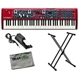 Nord Stage 3 Compact 73-Key Semi Weighted Keybed with Physical Drawbars w/ Geart