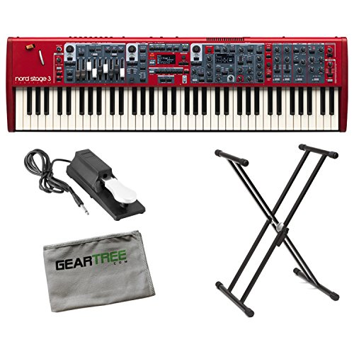 Nord Stage 3 Compact 73-Key Semi Weighted Keybed with Physical Drawbars w/Geart