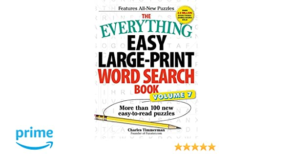 The Everything Easy Large-Print Word Search Book, Volume 7: More ...