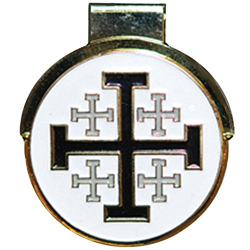 Jerusalem Cross Hat Clip with Ball Marker