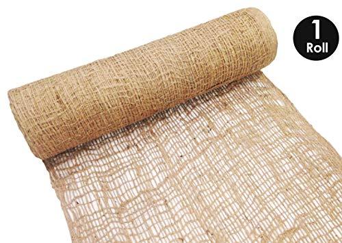 Control Soil Erosion (Sandbaggy Jute Netting Roll - Erosion Control Matting Blanket - Jute Matting - Jute Mesh Blanket - Jute Netting Installation Erosion Control - 225 ft Length 4 ft Width (1 Roll))
