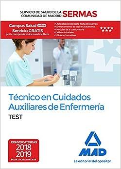Técnico En Cuidados Auxiliares De Enfermería Del Servicio De Salud De La Comunidad De Madrid. Test por 7 Editores epub