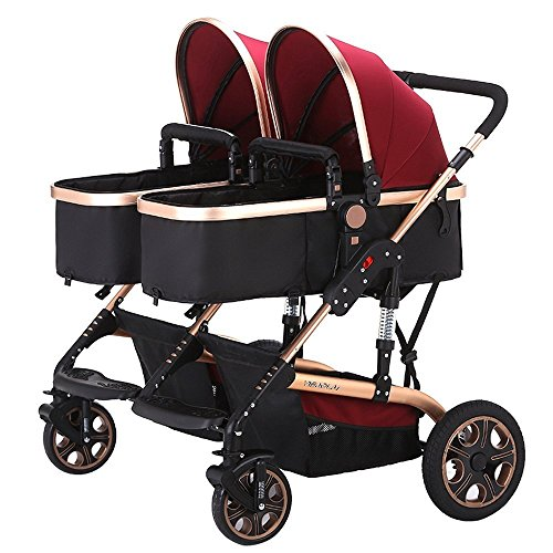 Double Pram For Newborn And Toddler - 3