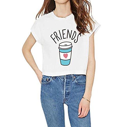 Corrispondenza Camicia Cola in 3XL Girocollo S Juleya Modello Top Best Tshirt 100 Camicette Friends Outfits Maglietta Casual delle Comoda Cotone qnvFHtw