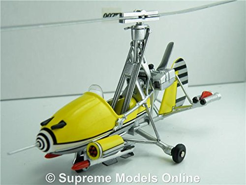 LITTLE NELLIE GYROCOPTER MODEL JAMES BOND AIRCRAFT 1:43 YELLOW GYRO YOLT T4Z