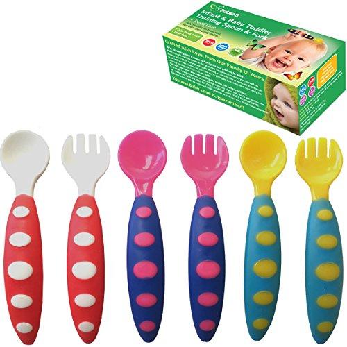 Baby Spoon Feeder (White) Set of 6 - 3