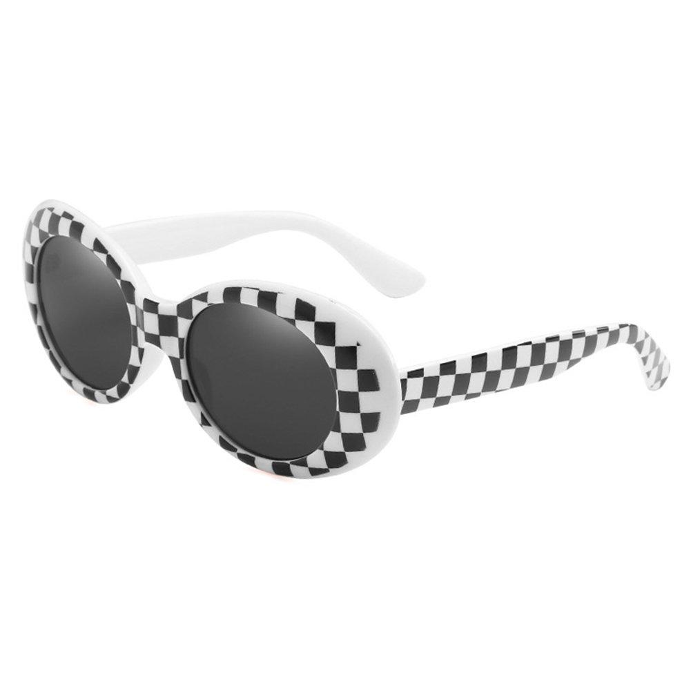 Yying Sunglasses Unisex Kurt Cobain Brille Bold Retro Oval Mod Clout Goggles