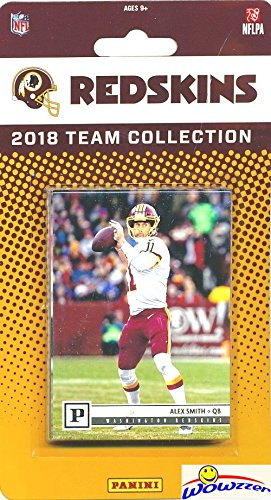 Washington Redskins 2018 Panini NFL Football Factory Sealed Limited Edition 13 Card Complete Team Set Alex Smith, Josh Norman,Derrius Guice RC & Many More! WOWZZER!