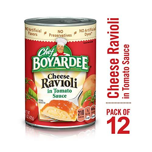 Chef Boyardee Cheese Ravioli in Tomato Sauce, 15 oz, 12 Pack ()