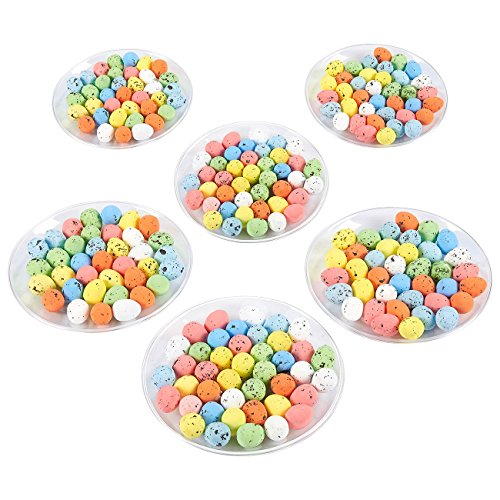 Mini Easter Eggs - 216-Pack of Decorative Foam Eggs for DIY Crafts and Assorted Easter Decorations, Multicolor, 0.5 x 0.7 x 0.5 Inches (Easter Craft Supplies)