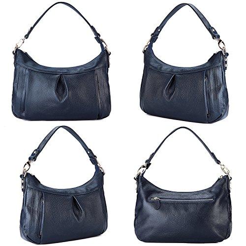 Blue Hobo Genuine Royal Bag for Women Bag GRM Leather Crossbody Handbag Ladies Shoulder n6FgF7f