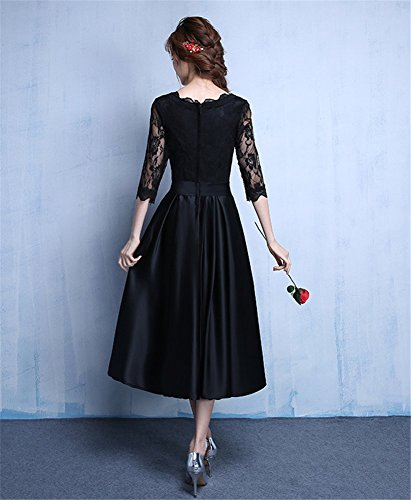 Mujer Para Trapecio Negro Vestido Drasawee Afwa1xqvU