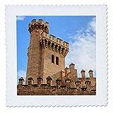 3dRose Danita Delimont - Castles - Spain, Balearic Islands, Mallorca, Palma de Mallorca, Almudaina palace - 12x12 inch quilt square (qs_277904_4)