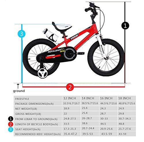RoyalBaby BMX Freestyle 12-inch Kids/' Bike with Training Wheels