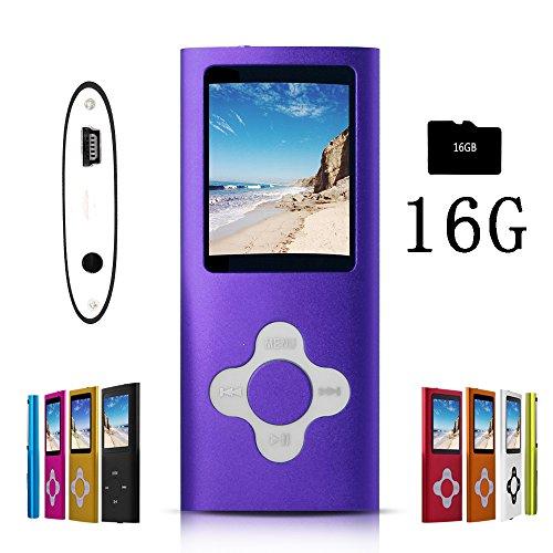 G.G.Martinsen Purple Stylish MP3/MP4 Player with a 16GB Micro SD card, Support Photo Viewer, Recorder & Radio, Mini USB Port 1.8 LCD, Digital Music Player, Media/Video Player, MP3 Player, MP4 Player by G.G.Martinsen