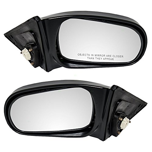 Driver and Passenger Power Side View Mirrors Ready-to-Paint Replacement for Honda Sedan 76250-S01-A15 - Mirror Honda Civic 00