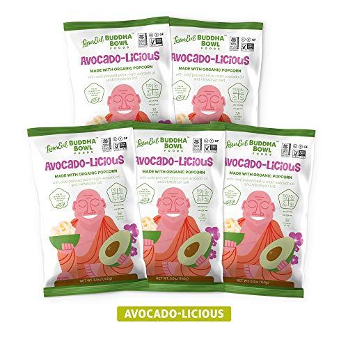 LesserEvil Organic Popcorn, Avacado-licious, 5 Ounce, 5 Count