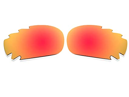 c817b13fb9 Image Unavailable. Image not available for. Color  BlackWorld Polarized  Fire Red Vented Replacement Lenses for Oakley Racing Jacket   Jawbone