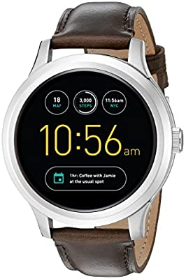 Fossil Q Founder Gen 1 Touchscreen Brown Leather Smartwatch from Fossil Watches
