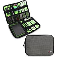 BUBM Universal Electronics Organizer, Travel Gear Bag for Cables, USB Drive Shuttle, External Hard Drive, Plug and More (Medium, Gray)