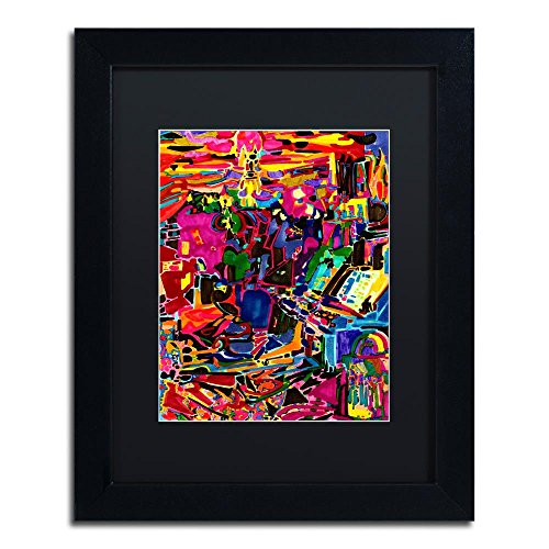 Fire In The Arcade by Josh Byer, Black Matte, Black Frame 11x14-Inch