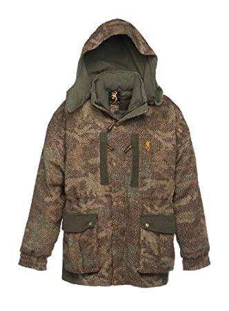 5989cefa0145b Browning 3-N-1 Full Curl Wool Hunting Parka - All Terrain Camo (Men's  Large): Amazon.co.uk: Sports & Outdoors