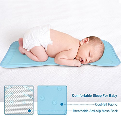 Atoumia Self-cooling Gel Mat, Baby Stroller Cooling Mat, Car Seat Mat, No Need Refrigeration, Non-toxic & Safe for Babies-White by Atoumia (Image #5)