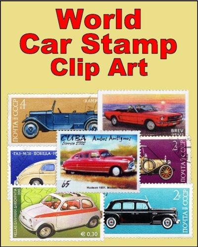 (World Car Stamp Clip Art)