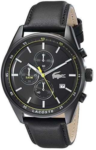 Lacoste Men's 2010785 Dublin Analog Display Japanese Quartz Black Watch