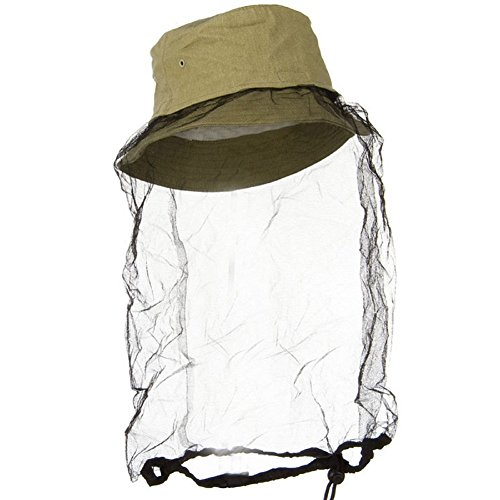 Khaki Boonie Outdoors Hat with Mosquito Netting S/M