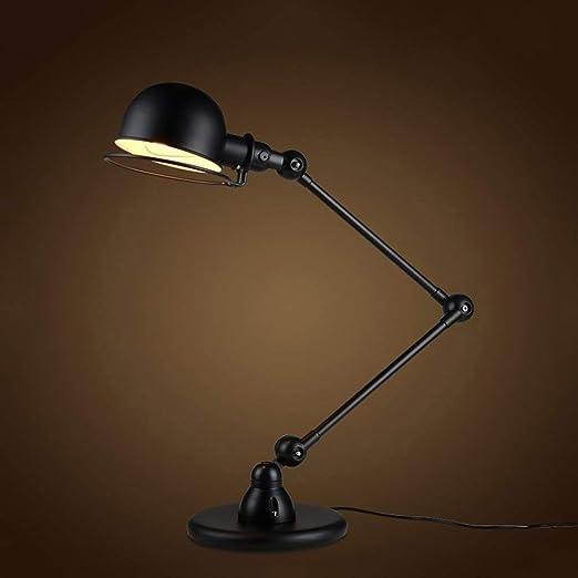 XHJJDJ Lámpara de escritorio con brazo oscilante, lámpara de mesa, bombilla LED adicional, estructura metálica, posición de sombra ajustable, lámpara de arquitecto para oficina/hogar/dormitorio-ne: Amazon.es: Hogar