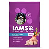 IAMS PROACTIVE HEALTH Large Breed Senior Plus Premium Dry Dog Food (1) 30 Pound Bag; Veterinarians Recommend IAMS; Chicken Is #1 Ingredient
