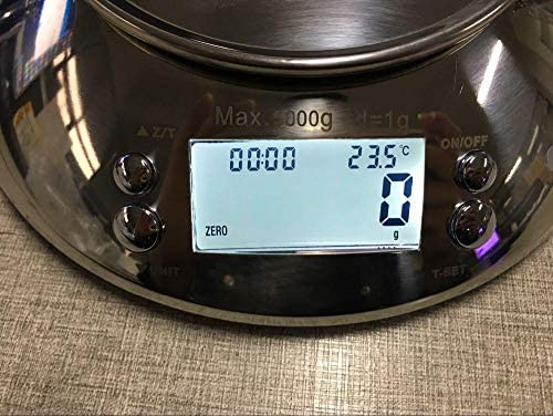 Mini bilance da cucina elettroniche digitali con timer di allarme, forniture per strumenti di misurazione per dispositivi di pesatura domestici, 5 kg / 1 g
