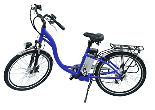 Hover-Way City Cruiser 15 MPH Electric Bike with Pedal Assist and Removable Lithium-Ion Battery, 12 Mile Range, Blue