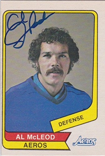 Al McLeod Signed 1976-77 O-Pee-Chee OPC WHA Card #47 Houston Aeros - Autographed Hockey Cards