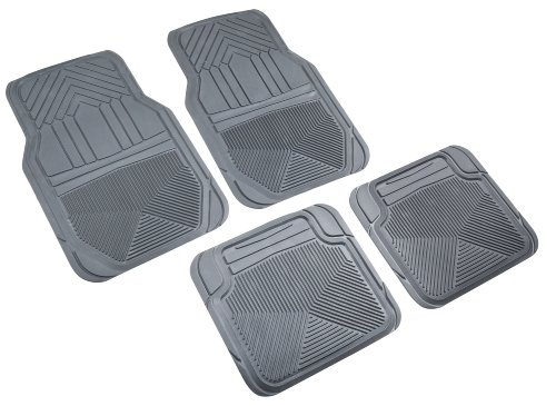 Highland 4547800 Weather Fortress Gray Premium Synthetic All Weather Floor Mat - 4 Piece