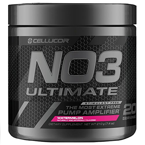 Cellucor NO3 Ultimate Nitric Oxide Supplement, Premier Nitric Oxide Booster & Pump Amplifier For Muscle Growth, Watermelon, 20 Servings