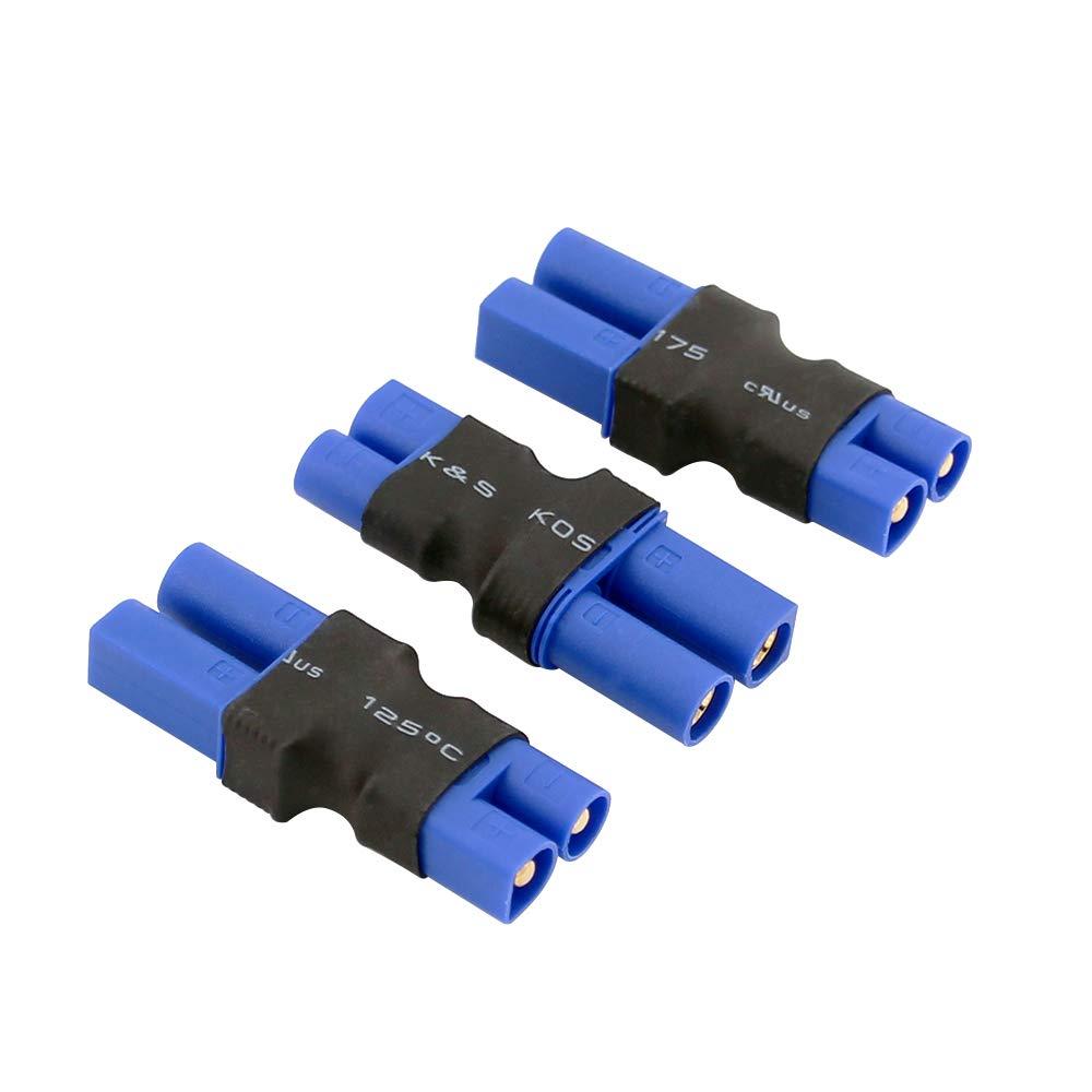 3個 ワイヤーなし コネクタ:オス EC3からメス EC5 リポバッテリーアダプター(BDHI-79) B07M7WJ9JC