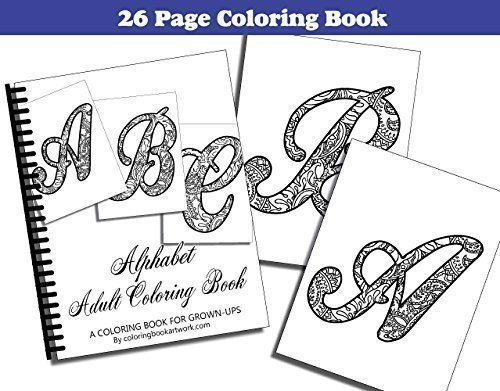 Amazon Com Alphabet Adult Coloring Book With 26 Pages Handmade