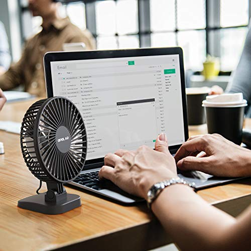 OPOLAR New Mini USB Powered Desk Fan with 3 Speeds Strong Airflow but Whispe...