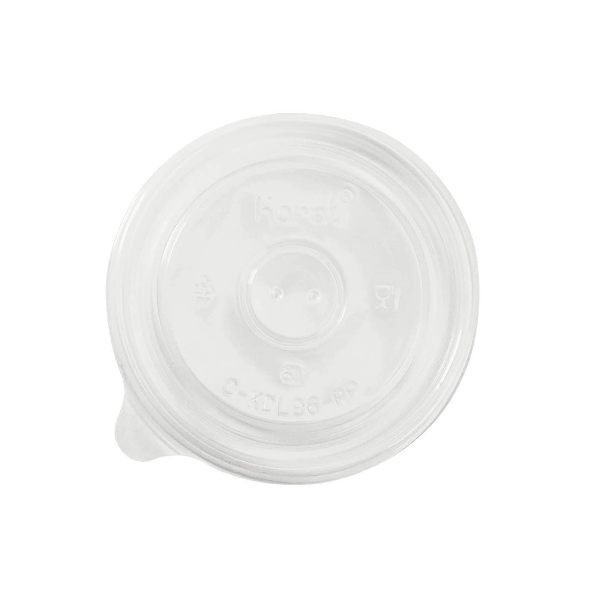 Karat C-KDL96-PP 6 oz PP Food Container Flat Lids (Case of 1000)
