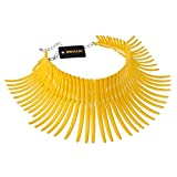 Fashion Sparkling Canine Shape Short Choker Collar Statement Necklace (Yellow)