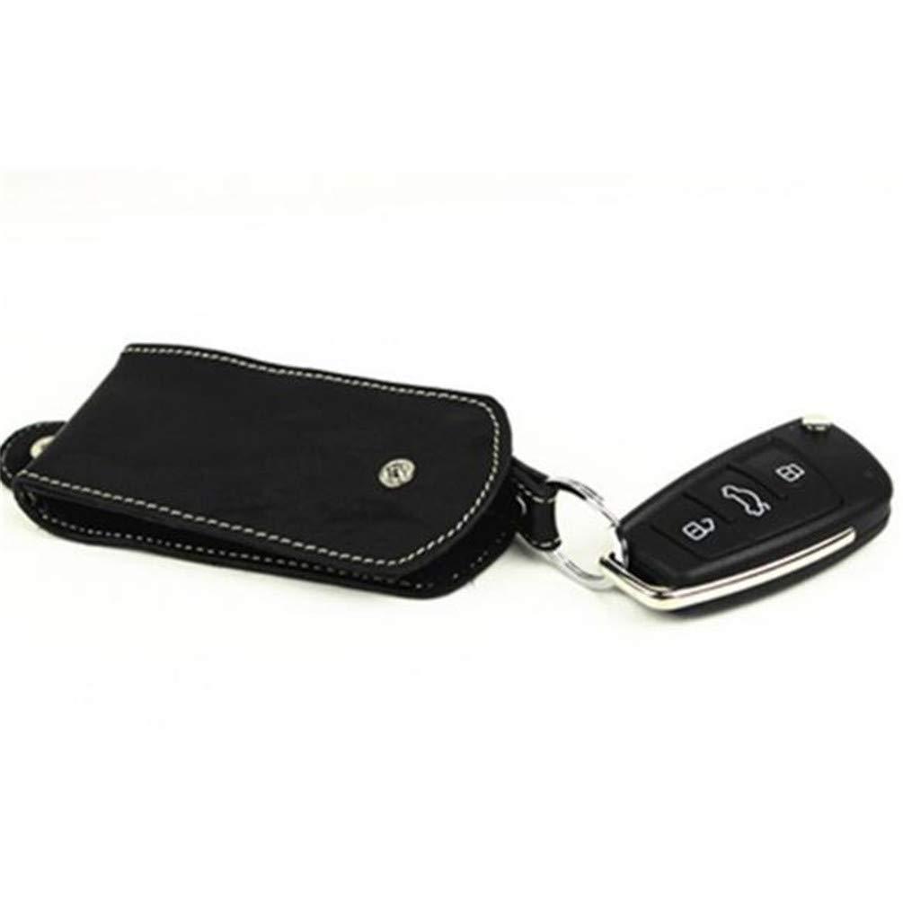 KYMLL Genuine Leather Car key Cover Car Smart Key Chain Coin Holder Chain Bag Keyring Wallet