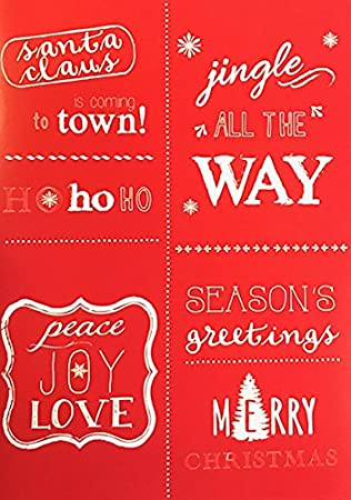 Amazon 10 red christmas sayings holiday cards red envelopes 10 red christmas sayings holiday cards red envelopes happy new year m4hsunfo