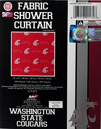 - Officially Licensed NCAA Washington State Cougars Shower Curtain