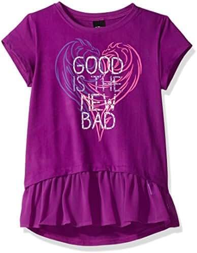 Disney D-Signed Big Girls' Descendants Chiffon Ruffle Hem Graphic T-Shirt