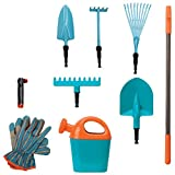 Gardena Little Gardener Boys and Girls 9 Piece Tool Set (III)