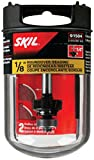 SKIL 91504 1/2-Inch BB 2F 1/4-Inch Shank Roundover Router Bit,...